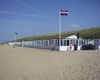 Strandpaviljoen van het strand van Katwijk
